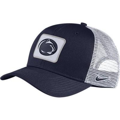 ナイキ メンズ 帽子 アクセサリー Nike Men's Penn State Nittany Lions Blue Classic99 Trucker Hat