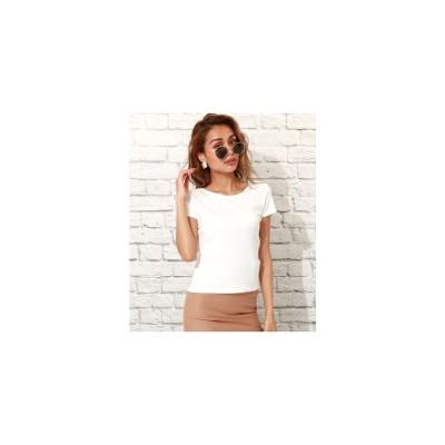 ANAP BACKクロスタイトTシャツ ホワイト