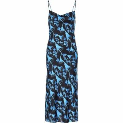 マリーン セル Marine Serre レディース ワンピース スリップドレス ワンピース・ドレス Floral slip dress Blue Print. Black