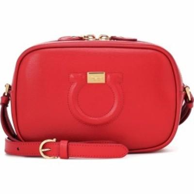 サルヴァトーレ フェラガモ Salvatore Ferragamo レディース ショルダーバッグ バッグ City Goncho leather shoulder bag Lipstick Ganci