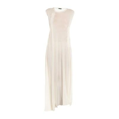 アン ドゥムルメステール ANN DEMEULEMEESTER ロングワンピース&ドレス アイボリー 40 コットン 90% / カシミヤ 10%