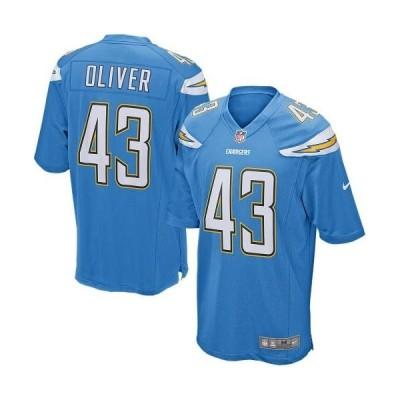 ユニセックス スポーツリーグ フットボール Branden Oliver Los Angeles Chargers Nike Alternate Game Jersey - Powder Blue ジャージ