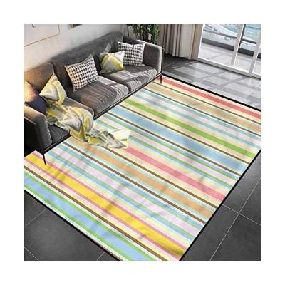Area Rug Rugs Print Large Floor Mat Geometric,Barcode Pattern Stripes Bedroom Carpet for Living Room Bedroom Playing Room 4'x5'並行輸入品