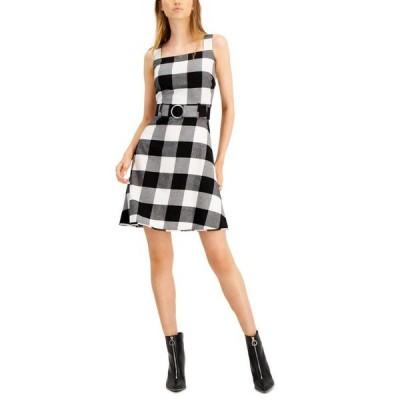 バースリー レディース ワンピース トップス Buffalo-Check Belted Mini Dress