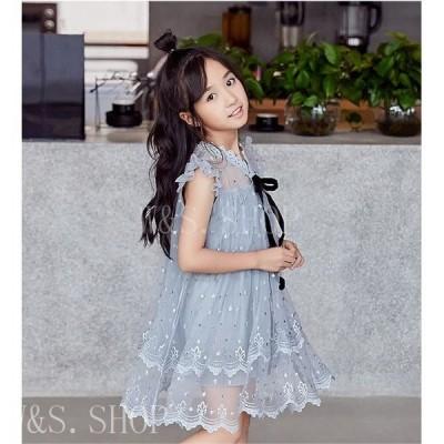 可愛い子供ワンンピース夏ワンピース韓国風キッズドレス姫系ワンピースロングワンピース結婚式七五三入学式発表会卒業式お出かけ