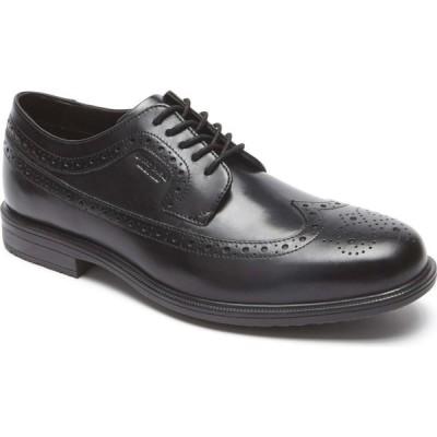 ロックポート ROCKPORT メンズ 革靴・ビジネスシューズ ウイングチップ シューズ・靴 'Essential Details Ii' Wingtip Black Leather