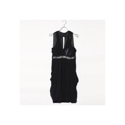 ジュネビビアン Genet Vivien ビジュー付きドレス (ブラック)