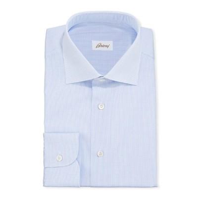 ブリオーニ メンズ シャツ トップス Men's Micro-Check Cotton Dress Shirt
