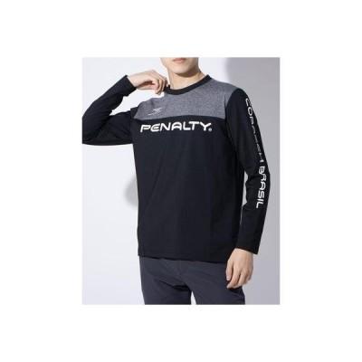 ペナルティ PENALTY メンズ サッカー/フットサル 長袖シャツ 裏起毛プラTシャツ PT0016