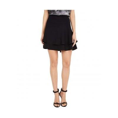 1.STATE ワンステート レディース 女性用 ファッション スカート Double Tiered Miniskirt - Rich Black