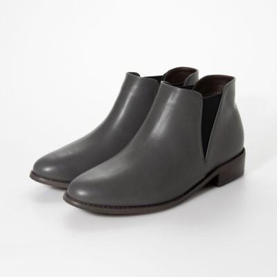 シューファンタジー Shoe Fantasy 晴雨兼用サイドゴアショートブーツ (gray)