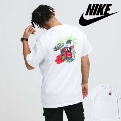 NIKE ナイキ 半袖Tシャツ メンズ カジュアル シューズボックス イラスト プリント ストリート ホワイト