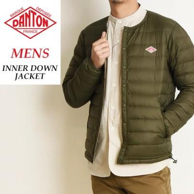 2020秋冬新作 ダントン DANTON インナーダウン ジャケット メンズ クルーネック 長袖 JD-8751 防寒 軽い 暖かい あたたかい ウォームビズ