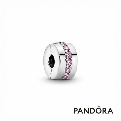 【Pandora官方直營】璀璨粉紅寶石固定釦