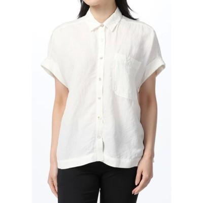BRAHMIN / ブラーミン brahmin 麻混ドロップショルダーシャツ