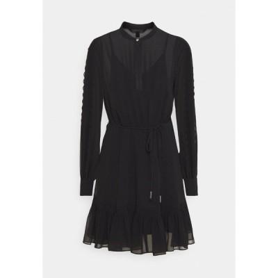 フォーエバー ニュー ワンピース レディース トップス JULIETTE TRIM DETAIL DRESS - Day dress - black