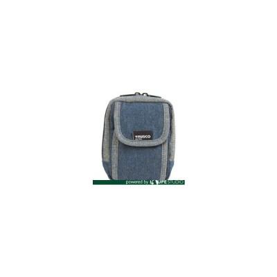 TRUSCO トラスコ中山 デニム携帯電話用ケース 2ポケット ブルー [TDC-H101] TDCH101 販売単位:1