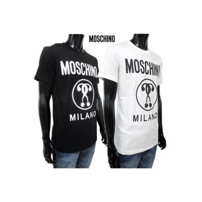 モスキーノ MOSCHINO メンズ トップス Tシャツ 半袖 オーバーサイズ 2color MOSCHINOロゴ・サークルロゴプリント付オーバーサイズTシャツ 白/黒 (R22400)