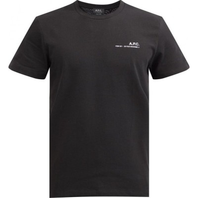 アーペーセー A.P.C. メンズ Tシャツ トップス Logo-print cotton-jersey T-shirt Black