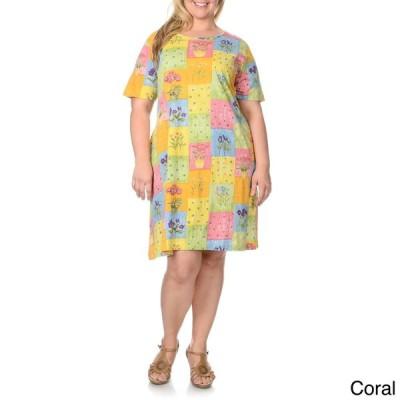 ラセラ La Cera レディース Plus Size Patchwork Print Dress