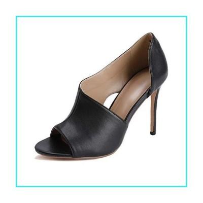 Womens High Heels Sandals Side Cutout Stiletto Open Toe Slip On D'Orsay Dress Shoes Black