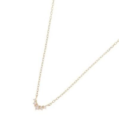 ココシュニック(COCOSHNIK)/ダイヤモンド グラデーションV字 ネックレス