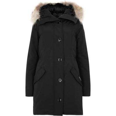 カナダグース Canada Goose レディース コート アウター rossclair black fur-trimmed arctic tech parka Black