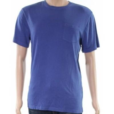 Pocket  ファッション トップス Club Room NEW Blue Mens Size Small S Short Sleeve Pocket Tee T-Shirt