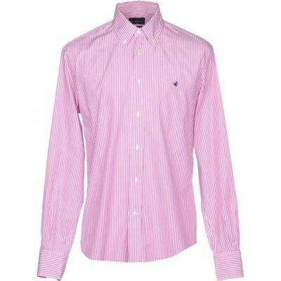 ブルックスフィールド BROOKSFIELD メンズ シャツ トップス striped shirt Pink