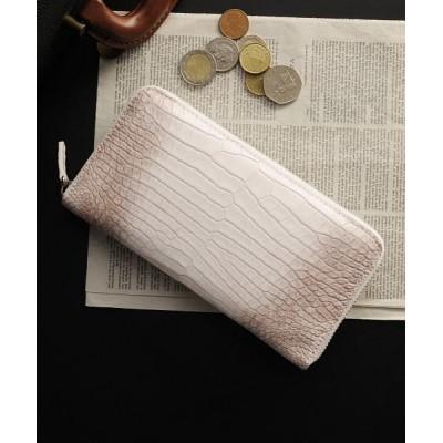 【サンキョウショウカイ】 ヒマラヤクロコダイルレザー長財布背面ポケット有り ユニセックス ホワイト FREE sankyoshokai