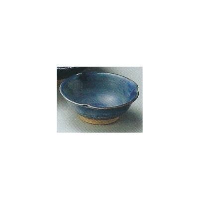 和食器05916-177 藍染千代久 /8.8×3.4cm土物 料理道具・魚料理・刺身皿・光