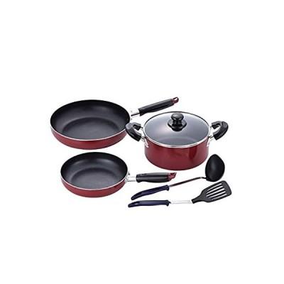 和平フレイズ(Wahei freiz) 鍋セット レッド 20cm/26cm IH対応 スティージー 両手鍋&フライパン お玉・ターナー付 MB-12