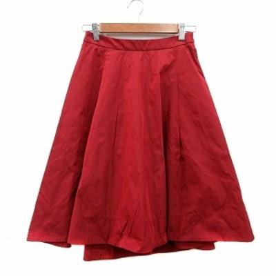【中古】ガリャルダガランテ GALLARDAGALANTE フレアスカート ミモレ ロング O 赤 レッド /MN レディース