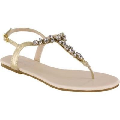 タッチアップス Touch Ups レディース サンダル・ミュール トングサンダル シューズ・靴 Paula Thong Sandal Gold Metallic Synthetic