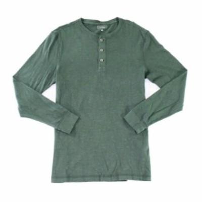 ファッション アウター Club Room Deep Woods Green Shirt Mens Size XL Garment Dyed Henley