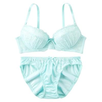 シンプルカラーデザイン ブラジャー・ショーツセット(C65/M) (ブラジャー&ショーツセット)Bras & Panties
