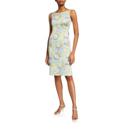 エスカーダ レディース ワンピース トップス Abstract Floral-Print Sheath Dress