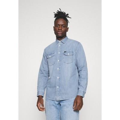 リー シャツ メンズ トップス WORKER - Shirt - frost blue
