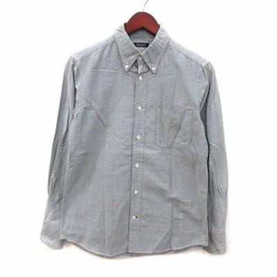 【中古】ユナイテッドアローズ UNITED ARROWS ボタンダウンシャツ 長袖 グレー /MS メンズ