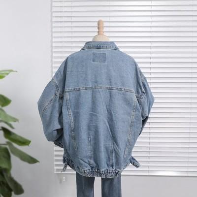 (良い品質)2020春と秋の韓国版の新商品はゆったりとしたブルーのデニムコートによく似合います