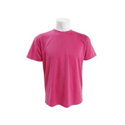 ピージー(PG) Tシャツ ドライプラスUV 半袖無地Tシャツ 863PG9CD9289 PNK (メンズ)