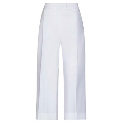 ツインセット シモーナ バルビエリ TWINSET パンツ ホワイト 46 コットン 97% / ポリウレタン 3% パンツ