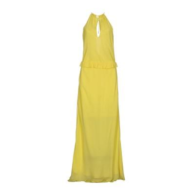 パトリティア ペペ セーラ PATRIZIA PEPE SERA ロングワンピース&ドレス イエロー 42 シルク 100% ロングワンピース&ドレス