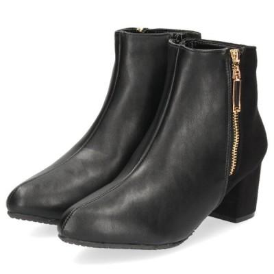 LOILO ロイロ 靴 1903 ブーツ レディース ヒール ショートブーツ チャンキーヒール 防水設計 撥水 防滑 カジュアル セール