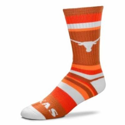 For Bare Feet フォー ベア フィート スポーツ用品  For Bare Feet Texas Longhorns Rainbow Stripe Tri-Blend Crew Sock