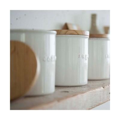 山崎実業 陶器キャニスター トスカ ソルト ホワイト 3427