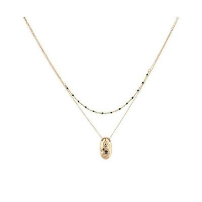 ビーズレイヤードネックレス 14Kゴールドメッキ 重ね付けバーシェル キュービックジルコニア チョーカーネックレス ハンドメイド 上品 ネックレス チ