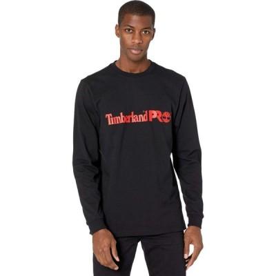 ティンバーランド Timberland PRO メンズ 長袖Tシャツ トップス Base Plate Long Sleeve Graphic T-Shirt Black/Red