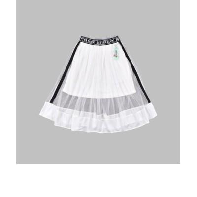 チャーム付き サイドライン チュールスカート(130~160cm)