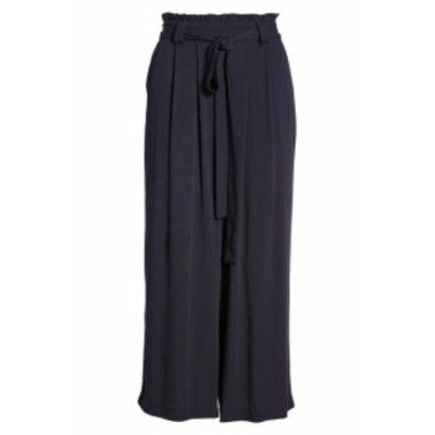 Gibson ギブソン ファッション パンツ Gibson Womens Pants Navy Blue Size Large PL Petite Capris Cropped Belted #423